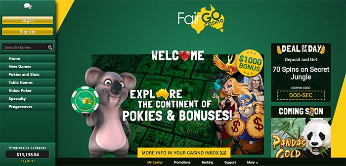 Fair Go Online Casino - AUD