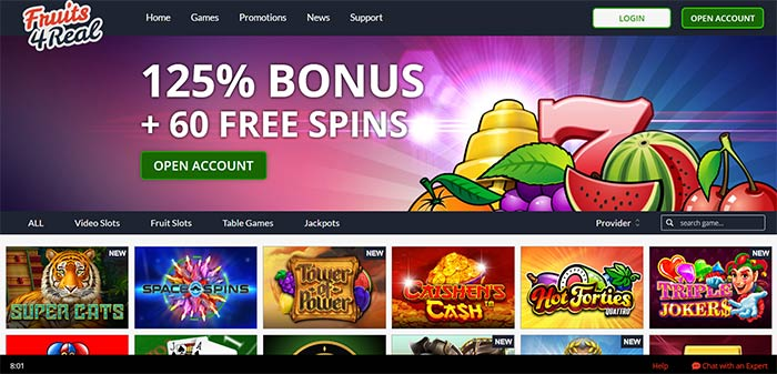 Fruits 4 Real AUD Online Casino