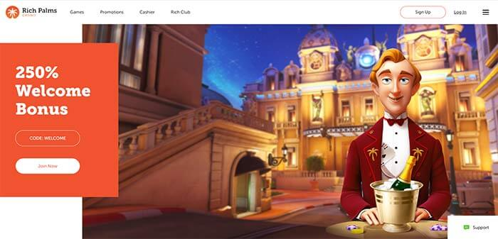 Rich Palms AUD Online Casino